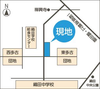 丹生郡越前町 旧織田町平等(たいら) 4字東多古 地図01