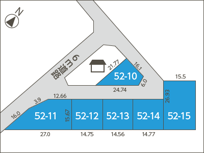 丹生郡越前町 旧織田町細野74-52-1 (西ケ丘団地) 地図02